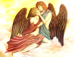 Lucifer and Michael by KelbremDusk