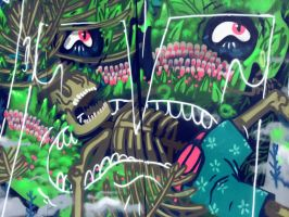details of Jungle Vagina Weed Warrior by tronzero
