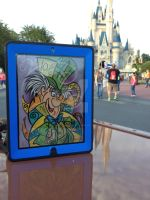 Drawing At The Park Mad Hatter by artinthegarage
