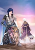 Great Lord Chrom/ Grandmaster Robin by AngelofDeathz