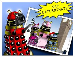 Dalek Family Vacation by Captain-Galant