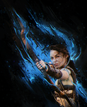 Blue fire of the huntress by Sebiss