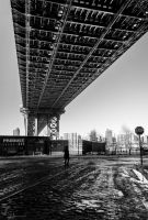 Under The Manhattan Bridge by Jonathan-Flash