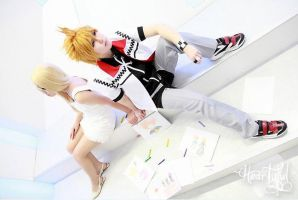 Namine and Roxas by Heartyful