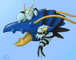 Clauncher and Clawitzer by Rabid-Fangirl212
