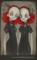 Creepy Twins by Monecule