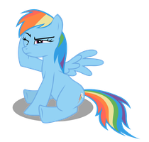 Rainbow Dash kicked by Azure-Vortex