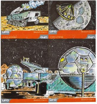 Unstoppable Cards - UFO Sketch Cards by JChattox