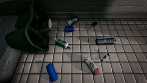 Various Objects in a Bathroom 1 by theACB