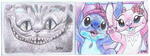 Aceo Trades - Chess, Stitch and Angel by ConkerTSquirrel
