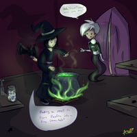 Casting a spell on the self-centered brat by MidnightsBloom