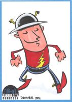 The Flash Sketch Card by thecheckeredman