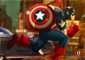 Captain America- On the move! by DESPOP