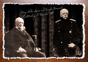 Prince Lieven and Chancellor Bismarck by LordRoem
