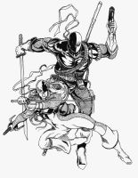 Deathstroke and Ravager by TardisTailz700
