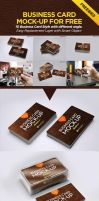Business Card Mockup (10 Styles) Freebies by zestladesign