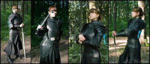 female dark leather armor by Shattan