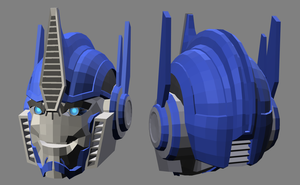 3D TFP Optimus Prime head - complete by RazzieMbessai
