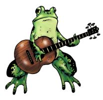frog with guitar by ATLbladerunner