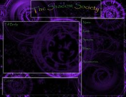 The Shadow Society Application by iheartart132