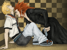 Roxas + Axel COLOR by kyriadalyn