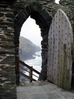 The Door to Tintagel Castle by sags