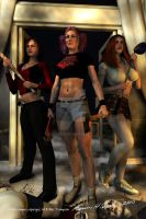 The Chaos Campus girls by Sharby