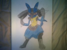 Lucario Coloured by CallumOfTheSand