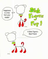 Stick Figure Pup by SophlyLaughing