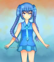 Comission: Blue-haired-girl (blackcoffeeneko's OC) by ChooHime