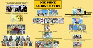 One Piece Marine Ranks by TheBeautyofViolence
