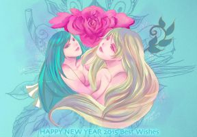happy new year 2015 by meisan