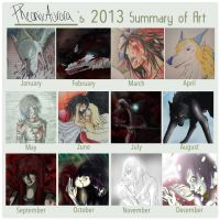 2013 Summary of Art by PheonixAurora