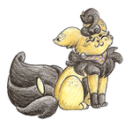 PKMNation commish Part 2 - Pumpkeevee by Dragon-of-Twilight