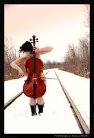 cello on the tracks 2 by whipmaster2007