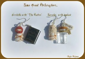 Greek Philosophers Earrings by Bojo-Bijoux