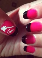 Nails in pink by lioness14