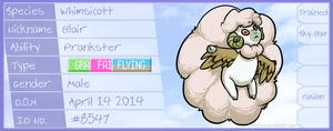 PKMNN - Blair the Whimsicott by Thalateya