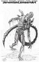 Zombie Alien/Xenomorph COMMISSION by JeremiahLambertArt