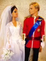 royal couple william barbie by dakotassong