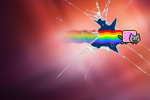 ''Nyan Cat Precise'' Wallpaper by Jayro-Jones