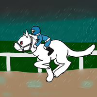Race in the rain by Experimentor-Iblis