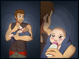 TWD ~ Daryl and Judith by chachi411
