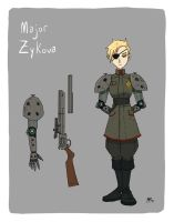 Injection character design- Major Zykova by AndrewKwan