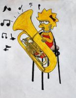 Lisa plays the Tuba by GladiatorRomanus