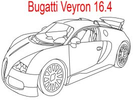 Bugatti Veyron 16.4 Line Art Perfected by MarcusMcCloud100