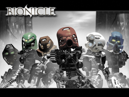 Colorized Bionicles by slamdriver