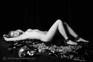 Ivana Reclined in Metal by dragoninlondon