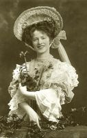 Vintage smiling edwardian lady 001 by MementoMori-stock