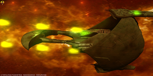 Romulan Escort cruiser by Euderion